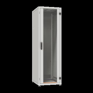 """ZPAS SZB IT 19"""" 33U magas 800x800 mm üvegajtós hálózati rack szekrény, világosszürke"""