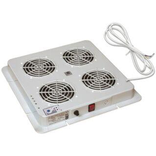 ZPAS A típusú tetőventilátor egység 4 ventilátorral és beépített termosztáttal, világosszürke