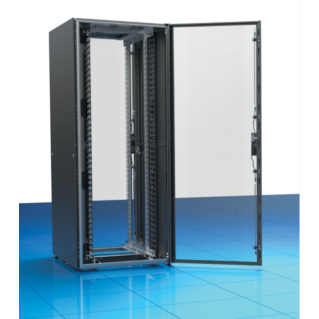 """ZPAS Z-SERVER 19"""" 47U magas 800x1000 mm perforált fémajtós, kétfelé nyíló hátsó perforált fémajtós professzionális szerver rack, fekete"""