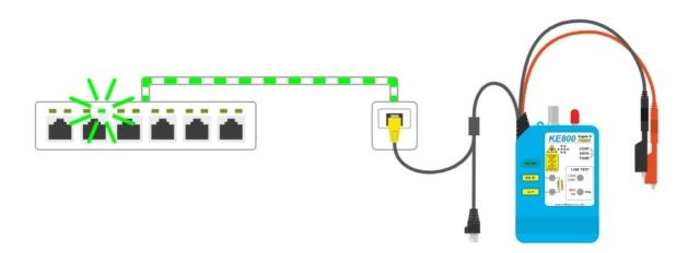 Link blink funkció